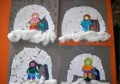This page has a lot of free Eskimo craft idea for kids,arctic unit craft,eskimo and iglo bulletin board craft idea for kids,parents and preschool teachers. Winter Art Projects, Winter Crafts For Kids, Winter Fun, Winter Theme, Art For Kids, Igloo Craft, Artic Animals, Polo Norte, January Crafts