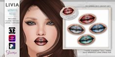 LIVIA Winter Kiss Lipsticks - Group Gift Freebie [Tattoo Layers + Omega + Loud Mouth + Sweetlips]