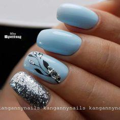 : blue glitter acrylic short coffin nails design for summer nails , nail. - : blue glitter acrylic short coffin nails design for summer nails , nails coffin nails nails : blue glitter - Nagel Gel, Nail Decorations, Flower Nails, Nail Trends, Glitter Nails, Blue Glitter, Glitter Art, Nails Inspiration, Beauty Nails