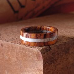 NEW! Cocobolo and Elk Antler ring!