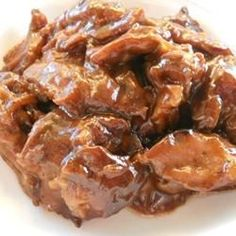 """Slow Cooker Barbeque I """"I have made BBQ beef from """"scratch"""" several times. This recipe is soooo much easier and tastes just as good! """""""