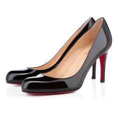 LOUBOUTIN - AUG 2014 - SIMPLE PUMP PATENT 85 mm, Patent leather, black, pumps, womens shoes.  EUR 465.00 - http://eu.christianlouboutin.com/de_en/shop/women/simple-pump-patent-1.html