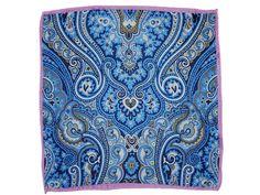 Einstecktuch ENRICO in Blau | Paisley mit Ornamenten auf italienischer Seide, Preis: 19,90 EUR Paisley, Silk, Blue, Shawl