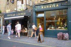 Hookah Lounge for drinks and teas and Kahaila for vegan cake (sometimes) on Brick Lane