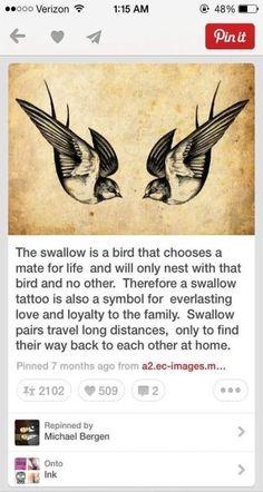 Super Tattoo Bird Swallow Symbols Ideas Super Tattoo Vogel Schwalbe Symbole Ideen Image by Rhiannon Whitney Family Tattoos, Couple Tattoos, Love Tattoos, Beautiful Tattoos, Body Art Tattoos, Tattoo Drawings, Small Tattoos, Tatoos, Cross Tattoos