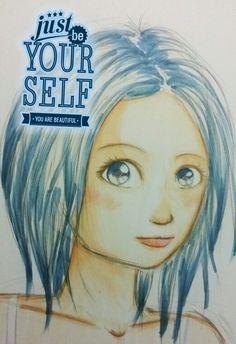 You Are Beautiful, Female, Art, Kunst, Art Education, Artworks