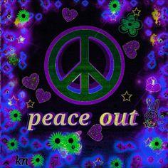☮✌~Paz~✌☮ ❤~ AMOR ~❤ ❤☮✌Peace☮∞L♡VE∞★ Paz Hacia fuera ☮ American Hippie Art ☮ Peace Sign