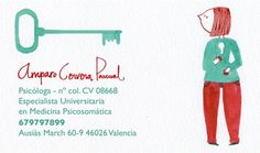 Business card for psychologist · by paulapé