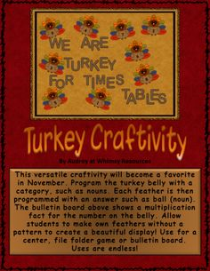 Turkey Craft Activity Bulletin Board Clipart | Edworld Exchange | Where Educators Buy and Sell Resources