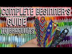 BEGINNER'S GUIDE [CC] || Friendship Bracelets - YouTube Diy Friendship Bracelets Tutorial, Chevron Friendship Bracelets, Bracelet Tutorial, Alpha Patterns, Heart Patterns, Thread Storage, Bead Loom Bracelets, Bracelet Crafts, Knots