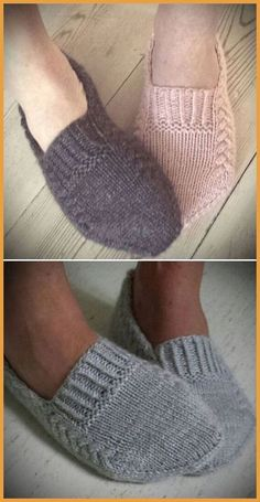 Easy Knitting, Knitting Stitches, Knitting Socks, Knitted Booties, Knitted Slippers, Animal Knitting Patterns, Knit Patterns, Crochet Shoes, Knit Crochet