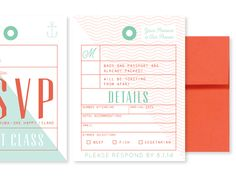 Working on expanding the passport invitation suite to include luggage tag RSVP cards!