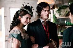 """""""Children of the Damned"""" - Nina Dobrev as Katherine, Ian Somerhalder as Damon in THE VAMPIRE DIARIES on The CW. Photo: Quantrell Colbert/The CW ©2009 The CW Network, LLC. All Rights Reserved. (881)"""