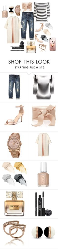 """""""Holiday Brunch"""" by shannon-klement ❤ liked on Polyvore featuring Hollister Co., H&M, Verali, Oscar de la Renta, Rolex, Esme Vie, Smashbox, Essie, Givenchy and Rodial"""