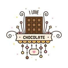 #drawing #draweveryday #illustration #illustrator #vector #art #digitalart #instaart #chocolate #cute #рисунок #творчество #шоколад