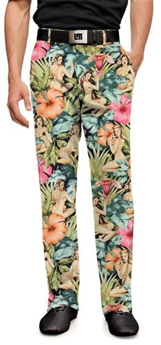 Mens Island Girls Made To Order Pants by Loudmouth Golf.  Buy it @ ReadyGolf.com