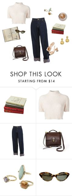 """""""Reading in a coffee shop"""" by lamariscei ❤ liked on Polyvore featuring Rachel Comey, Vivienne Westwood, MANGO and Marco Bicego"""