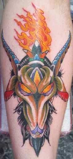 Tattoo Designs for Aries Zodiac for All Genders: Colorful Aries Tattoo Designs ~ Zodiac Tattoo Inspiration