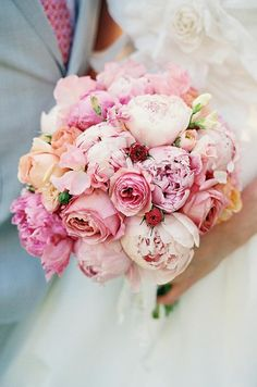Romantic simple wedding bouquet with pink peonies; Featured Photographer: Cappy Hotchkiss Photography Pink wedding inspiration and ideas for the alternative creative bride Simple Wedding Bouquets, Peony Bouquet Wedding, Peonies Bouquet, Bride Bouquets, Bridal Flowers, Pink Peonies, Floral Bouquets, Floral Wedding, Purple Bouquets