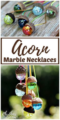 This DIY acorn marble necklace is an easy nature craft idea for kids and adults…. This DIY acorn marble necklace is an easy nature craft idea for kids and adults. They are made with natural acorn caps and make a… Continue Reading → Marble Necklace, Acorn Necklace, Onyx Necklace, Acorn Crafts, Crafts With Acorns, Ideias Diy, Diy For Kids, Craft Ideas For Adults, Diy Gifts For Kids