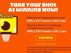 Hershey's Reese's Shoot For 2 Sweepstakes