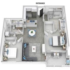 apartment floor plans Super ideas for apartment layout floor plans luxury Sims House Plans, House Layout Plans, Small House Plans, House Layouts, House Floor Plans, Apartment Layout, Apartment Design, Home Design Plans, Plan Design