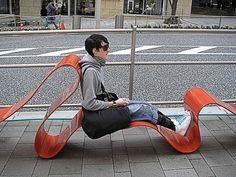 Modern Street furniture (Photo by Michael Bojkowski)