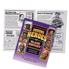 Unsung Heroes Of Black History Educational Activities Book  Item # KCB630V
