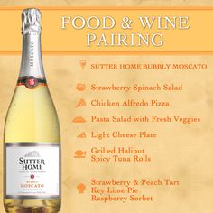 What to pair with Bubbly Moscato? Sutter Home #Wine & Food Pairing Series #WinePairing