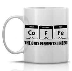 Periodic Table of Elements coffee mug funny coffee by HumerusWares $13.99 More