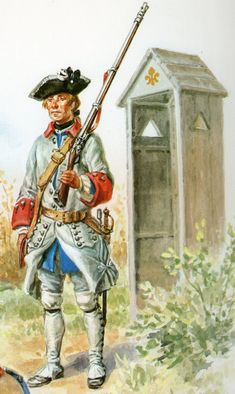 French musketeer, Seven Years War