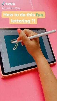 Digital Painting Tutorials, Digital Art Tutorial, Art Tutorials, Digital Art Beginner, Ipad Hacks, Cool Lettering, Hand Lettering Art, Ipad Art, Lettering Tutorial