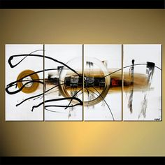 White Modern Contemporary Original Abstract by OsnatFineArt, $659.00