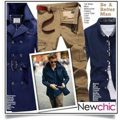 Newchic - Be A Better Man I/9 by ewa-naukowicz-wojcik on Polyvore featuring men's fashion and menswear