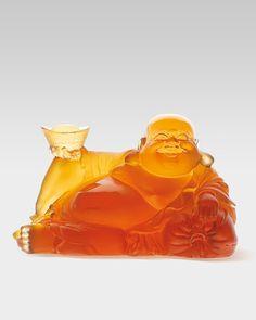 Happy Buddha Figure by Daum at Neiman Marcus.