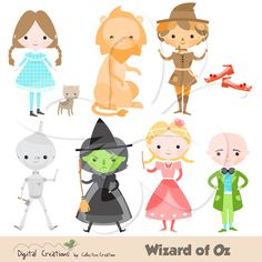 Wizard of Oz Clip Art Clipart Set - Personal and Commercial Use on Etsy, $4.00