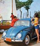 Fusca antigo: rodas 15 polegadas, 5 furos, calota redonda grande. Até 66 era lisa, sem furos. A partir de 1967 tinha furos oblongos.