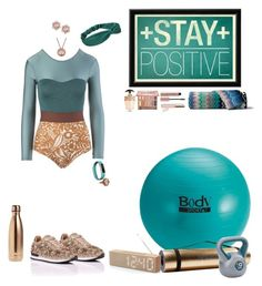 """""""Positive Thinking"""" by blackmagicmomma ❤ liked on Polyvore featuring Seea, Bodyism, Fitbit, Lord & Taylor, LEXON, Urban Decay, Beautycounter, Prada, S'well and Missoni Home"""