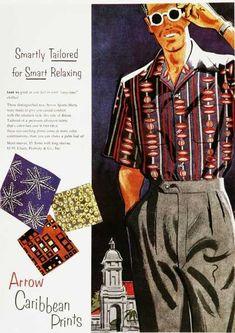 Arrow vintage ad - Hawaïan printed shirt