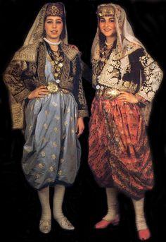 Ankara, Beypazari young bride's wedding dress. Turkey