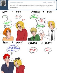 Poor Wales and Matt xD #hetalia {All credit goes to ask-the-ukbros.tumblr.com}