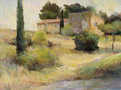 Valerie Collymore, Bastide Near St. Remy de Provence, oil, 10 x 13.
