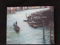 """Painted from a friends photograph from Venice. """"Grand Canale"""". Oil on canvas"""