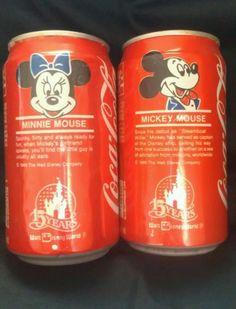 2 Coca Cola Can 1986 Minnie Mouse Coke Can Mickey Mouse Coke Disney World   eBay