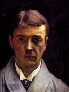 My portrait - Felix Vallotton. Artist: Felix Vallotton. - Over the years, he also painted many self portraits and one of my favourites is his 1891 painting, Mon portrait. Portraiture was a way Vallotton began to earn money and he completed many commissions in Paris and back in his home town of Lausanne.
