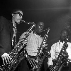 Johnny Griffin, John Coltrane and Hank Mobley