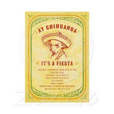 Fiesta Invitations - Aye Chihauhau