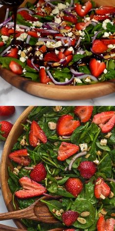 Frugal Food Items - How To Prepare Dinner And Luxuriate In Delightful Meals Without Having Shelling Out A Fortune This Strawberry Spinach Salad With Perfect Balsamic Poppy Seed Dressing, Is The Perfect Light Salad Have It As A Side Dish Or A Whole Meal Healthy Salad Recipes, Vegetarian Recipes, Cooking Recipes, Spinach Salad Recipes, Side Salad Recipes, Chard Recipes, Easter Recipes, Light Recipes, Healthy Recipes