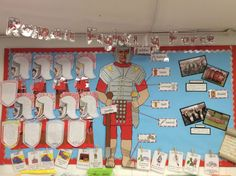 Year 3 Romans classroom display. Mar-16. Classroom Displays Ks2, Year 4 Classroom, Ks2 Classroom, Teaching Displays, Class Displays, School Displays, History Classroom, Romans For Kids, Romans Ks2