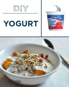 Making yogurt at home just takes milk, a thermometer, and a little patience. | 30 Foods You'll Never Have To Buy Again